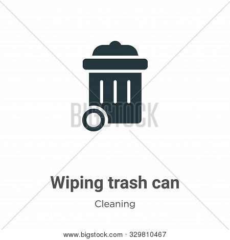 Wiping trash can icon isolated on white background from cleaning collection. Wiping trash can icon t