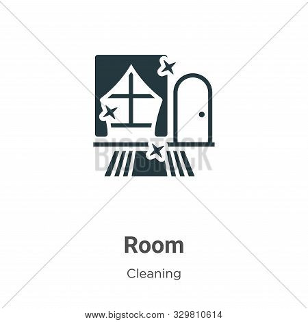 Room icon isolated on white background from cleaning collection. Room icon trendy and modern Room sy