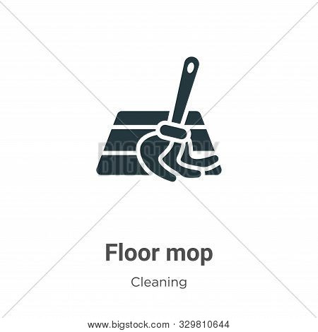 Floor mop icon isolated on white background from cleaning collection. Floor mop icon trendy and mode