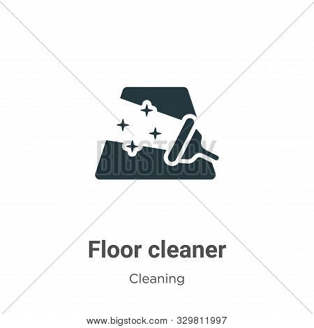 Floor cleaner icon isolated on white background from cleaning collection. Floor cleaner icon trendy