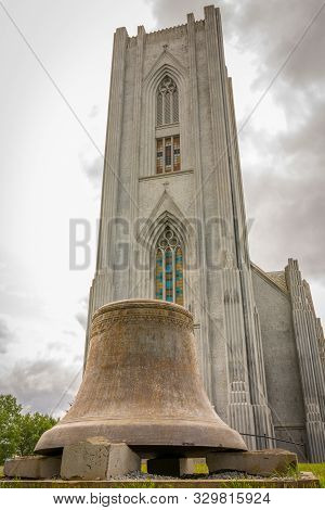 Iceland, Reykjavik, July 2019: Cathedral Of Christ The King Or In Icelandic: Landakotskirkja, Formal