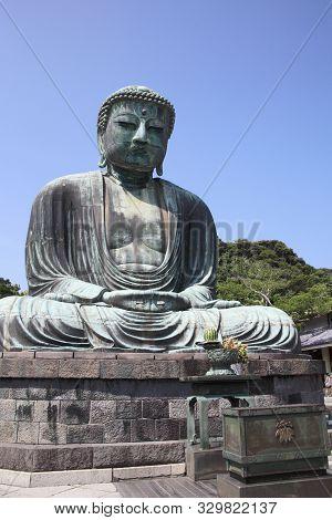 Buddha Of Kamakura Near Tokyo In Japan