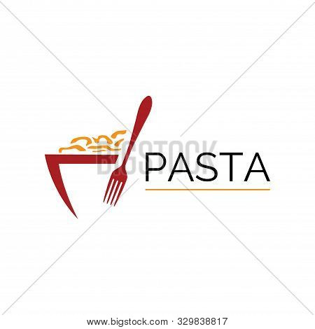 Vector Logo Of Spaghetti, Noodles And Pasta