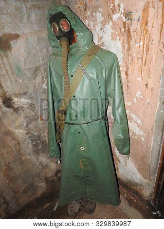 Abandoned Prison In Underground Bunker. Ghost Of Prisoner. Ex Soviet Cold War Bomb Shelter. Hermetic
