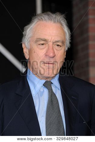 Robert De Niro at the Los Angeles premiere of 'The Irishman' held at the TCL Chinese Theatre in Hollywood, USA on October 24, 2019.