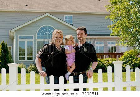 Family In Their Backyard