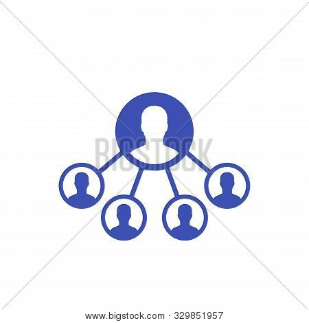 Delegation Business Icon, Eps 10 File, Easy To Edit