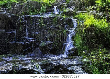 La Petite Cascade - The Little Waterfall Of The Cance And Cancon Rivers  - Le Neufbourg, Normandy, F