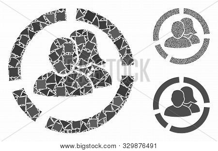 People Diagram Mosaic Of Rough Items In Various Sizes And Color Tinges, Based On People Diagram Icon