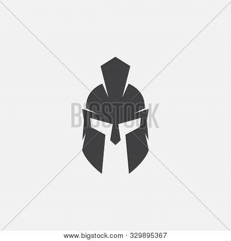 Helmet Of The Spartan Warrior Symbol, Emblem. Spartan Helmet Logo, Illustration Of Spartan, Spartan