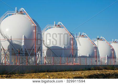 Liquefied  Petroleum Gas (lpg) Storage Tanks. Gas Plant.