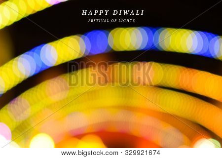 Abstract Background Of Diwali, Happy Diwali, Diwali Lighting Background, Diwali Bokeh Lights, Yellow