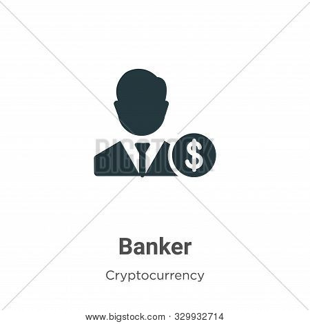 Banker icon isolated on white background from cryptocurrency collection. Banker icon trendy and mode