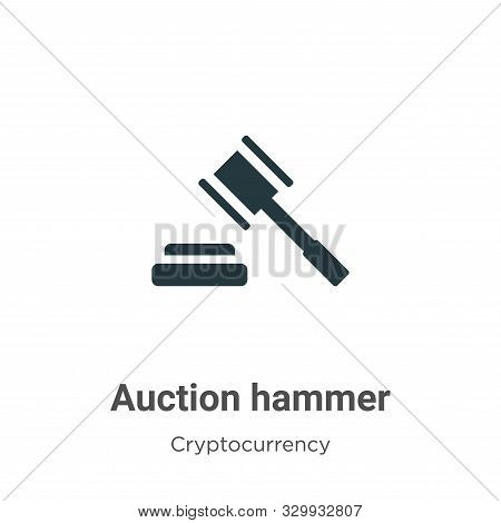 Auction hammer icon isolated on white background from cryptocurrency collection. Auction hammer icon