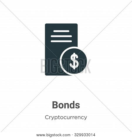 Bonds icon isolated on white background from cryptocurrency collection. Bonds icon trendy and modern