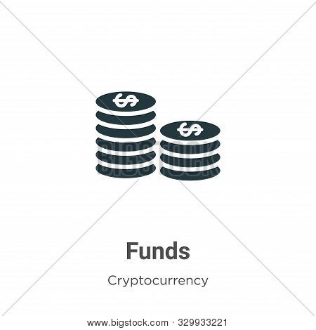 Funds icon isolated on white background from cryptocurrency collection. Funds icon trendy and modern