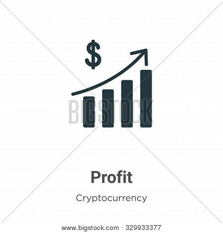 Profit icon isolated on white background from cryptocurrency collection. Profit icon trendy and mode