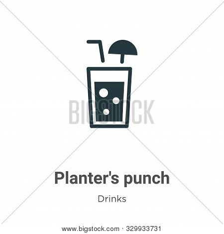Planters punch icon isolated on white background from drinks collection. Planters punch icon trendy
