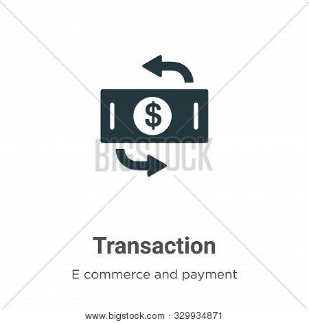 Transaction icon isolated on white background from e commerce and payment collection. Transaction ic