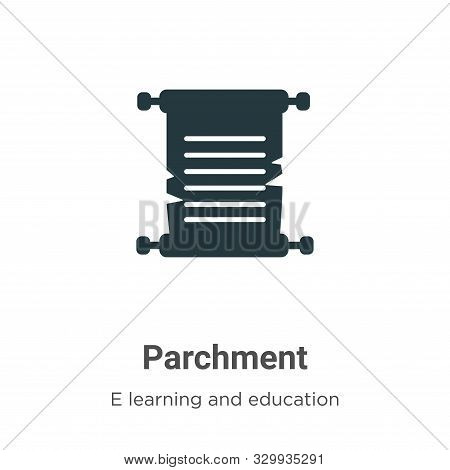 Parchment icon isolated on white background from e learning and education collection. Parchment icon
