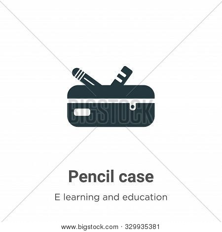 Pencil case icon isolated on white background from e learning and education collection. Pencil case