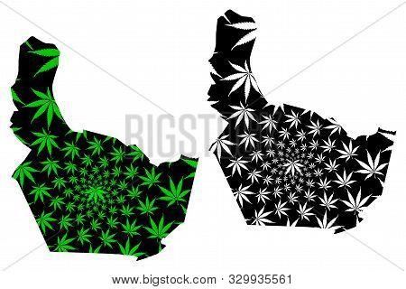 Nonthaburi Province (kingdom Of Thailand, Siam, Provinces Of Thailand) Map Is Designed Cannabis Leaf