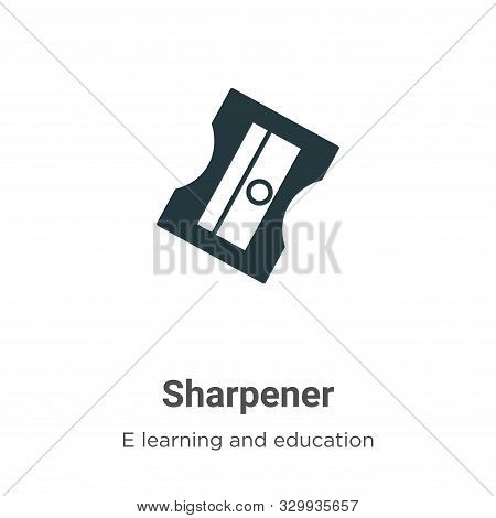 Sharpener icon isolated on white background from e learning and education collection. Sharpener icon