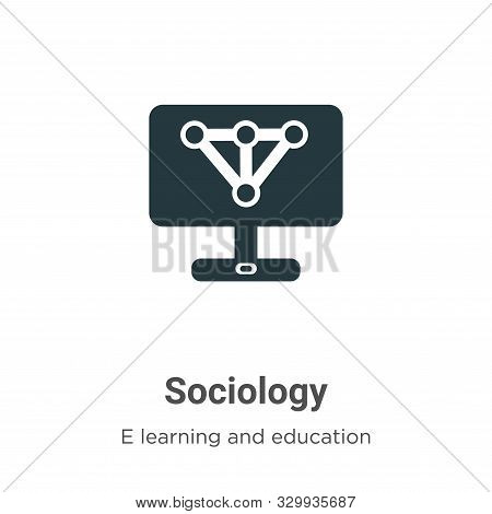 Sociology icon isolated on white background from e learning and education collection. Sociology icon