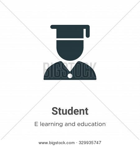 Student icon isolated on white background from e learning and education collection. Student icon tre