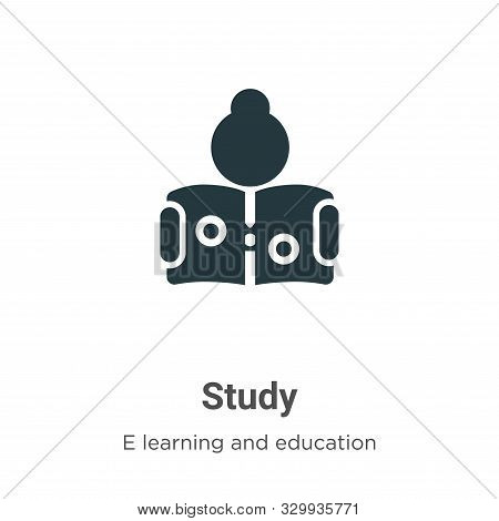 Study icon isolated on white background from e learning and education collection. Study icon trendy