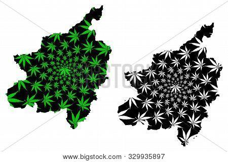 Phitsanulok Province (kingdom Of Thailand, Siam, Provinces Of Thailand) Map Is Designed Cannabis Lea