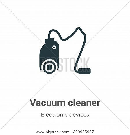 Vacuum cleaner icon isolated on white background from electronic devices collection. Vacuum cleaner
