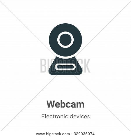 Webcam icon isolated on white background from electronic devices collection. Webcam icon trendy and