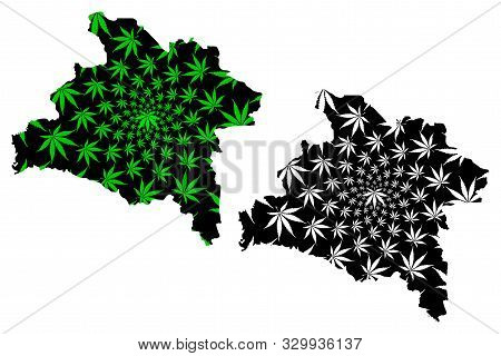 Prachinburi Province (kingdom Of Thailand, Siam, Provinces Of Thailand) Map Is Designed Cannabis Lea