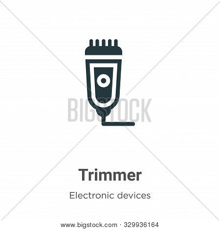 Trimmer icon isolated on white background from electronic devices collection. Trimmer icon trendy an