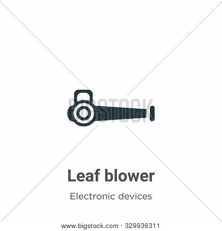 Leaf blower icon isolated on white background from electronic devices collection. Leaf blower icon t