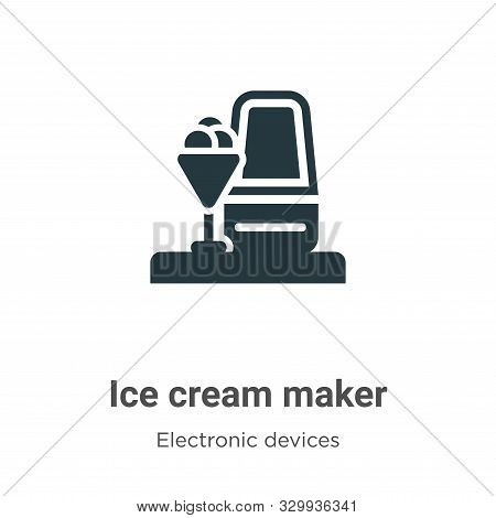Ice cream maker icon isolated on white background from electronic devices collection. Ice cream make