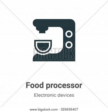 Food processor icon isolated on white background from electronic devices collection. Food processor