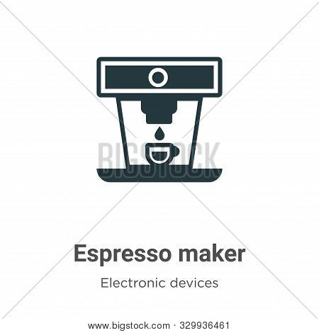 Espresso maker icon isolated on white background from electronic devices collection. Espresso maker