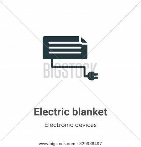 Electric blanket icon isolated on white background from electronic devices collection. Electric blan
