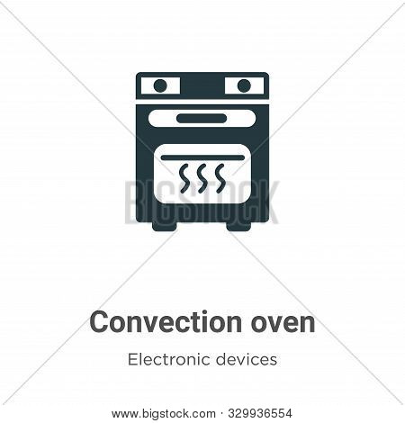 Convection oven icon isolated on white background from electronic devices collection. Convection ove