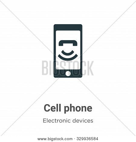Cell phone icon isolated on white background from electronic devices collection. Cell phone icon tre
