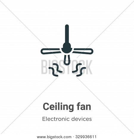 Ceiling fan icon isolated on white background from electronic devices collection. Ceiling fan icon t
