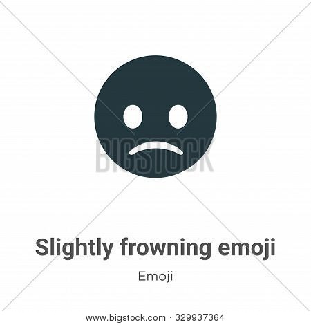 Slightly frowning emoji icon isolated on white background from emoji collection. Slightly frowning e