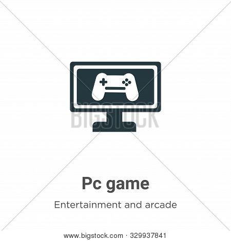 Pc game icon isolated on white background from entertainment and arcade collection. Pc game icon tre