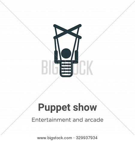 Puppet Show Vector Icon On White Background. Flat Vector Puppet Show Icon Symbol Sign From Modern En