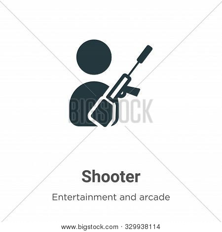 Shooter icon isolated on white background from entertainment and arcade collection. Shooter icon tre