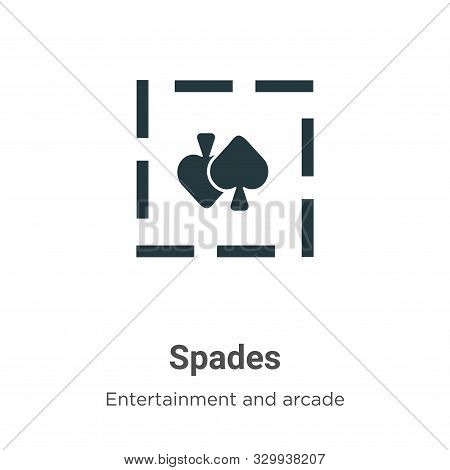 Spades icon isolated on white background from entertainment and arcade collection. Spades icon trend