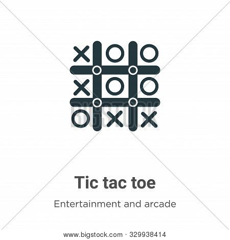 Tic tac toe icon isolated on white background from entertainment and arcade collection. Tic tac toe