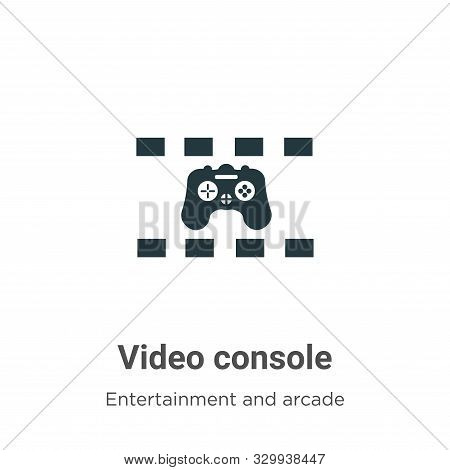 Video console icon isolated on white background from entertainment and arcade collection. Video cons